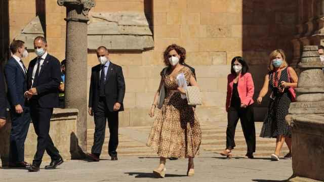 La ministra de Hacienda y Función Pública, María Jesús Montero, tras la celebración de la XXIV Conferencia de Presidentes en Salamanca.
