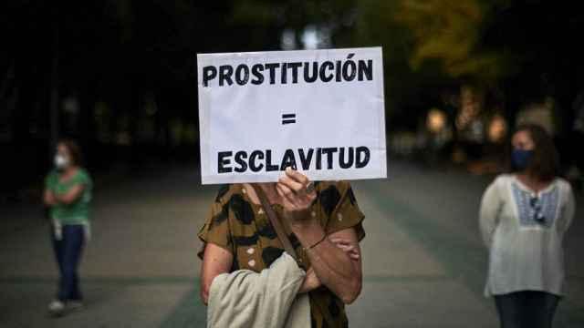 Imagen de archivo de una manifestación por la abolición de la prostitución.