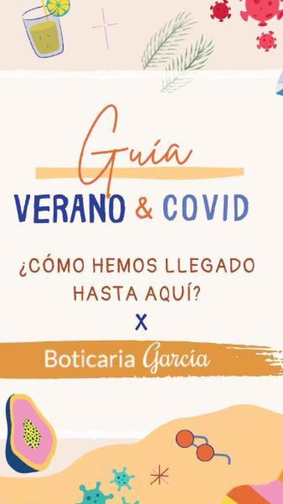 Portada de la guía Verano y Covid de boticaria García