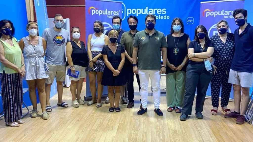 Reunión del PP de Torrijos (Toledo) donde se ha hablado de la inseguridad ciudadana