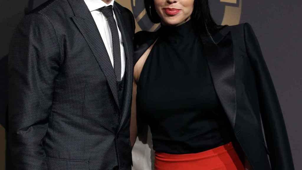 Ronaldo y su pareja en un acto público en marzo de 2018.