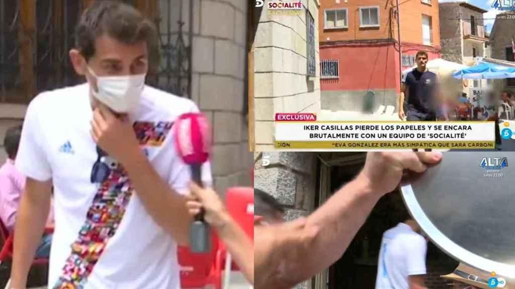 Tres momentos del enfrentamiento de Casillas.