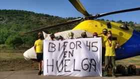 Protesta del colectivo BIFOR en el marco de la huelga que lleva a cabo Geacam