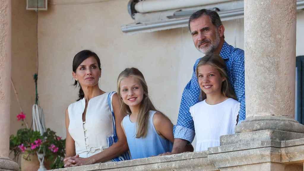 La Familia Real durante su visita a Deyá en 2019.