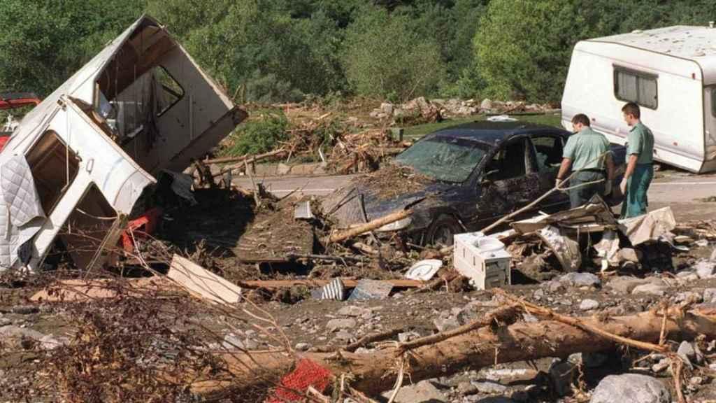 Imágenes de la tragedia de Biescas en 1996