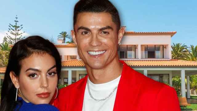 Cristiano Ronaldo junto a Georgina Rodríguez en montaje de JALEOS.