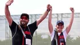 Fátima Gálvez y Alberto Fernández celebran su oro olímpico en Tiro en los JJOO de Tokio 2020