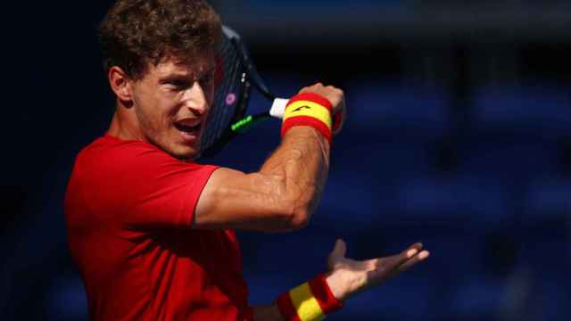 Pablo Carreño durante el partido ante Djokovic