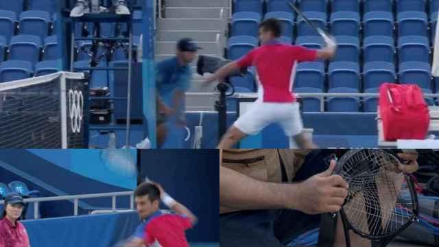 Novak Djokovic, durante el partido ante Pablo Carreño