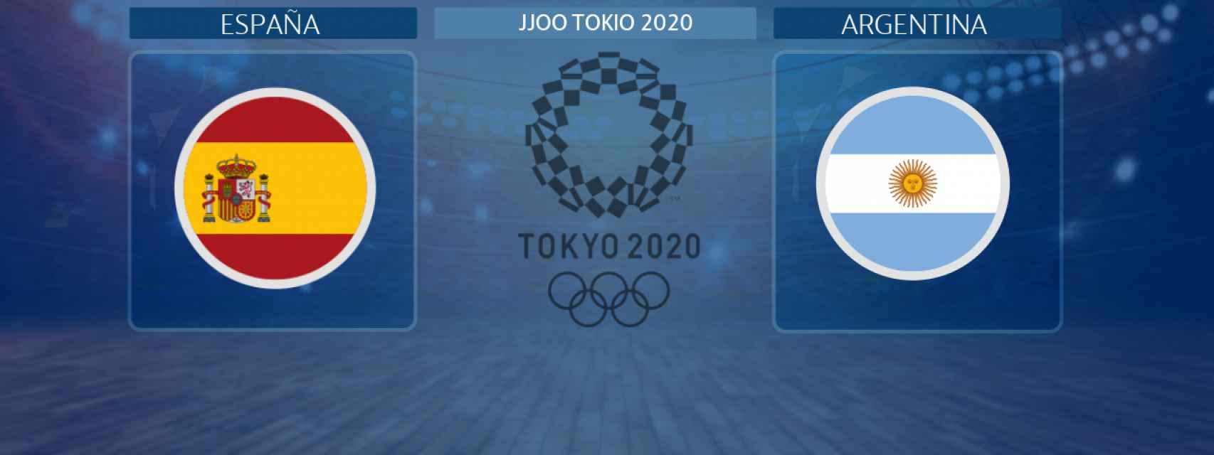 España - Argentina, partido de balonmano masculino de los JJOO Tokio 2020