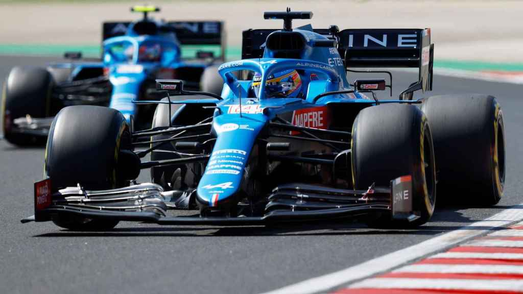 Fernando Alonso y Esteban Ocon en el Gran Premio de Hungría