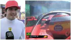 Carlos Sainz y su accidente