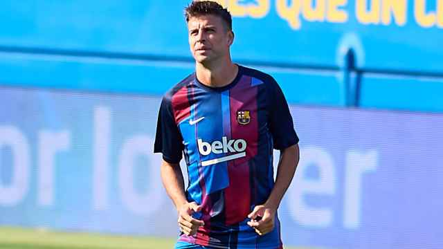 Gerard Piqué, en un partido del FC Barcelona