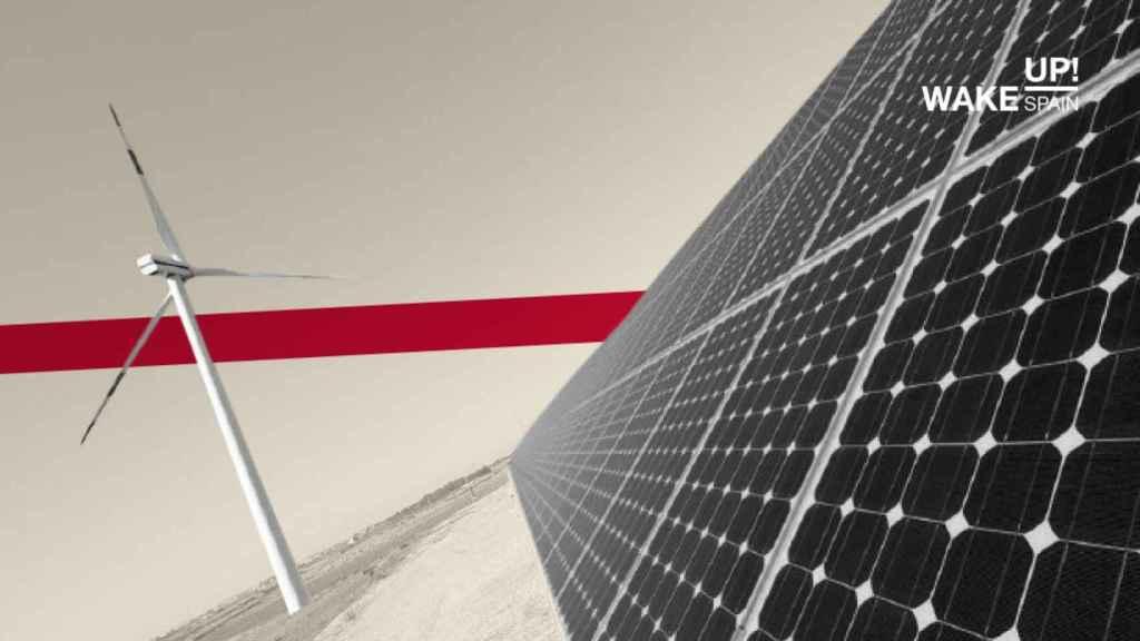 Instalaciones de energía solar y eólica.