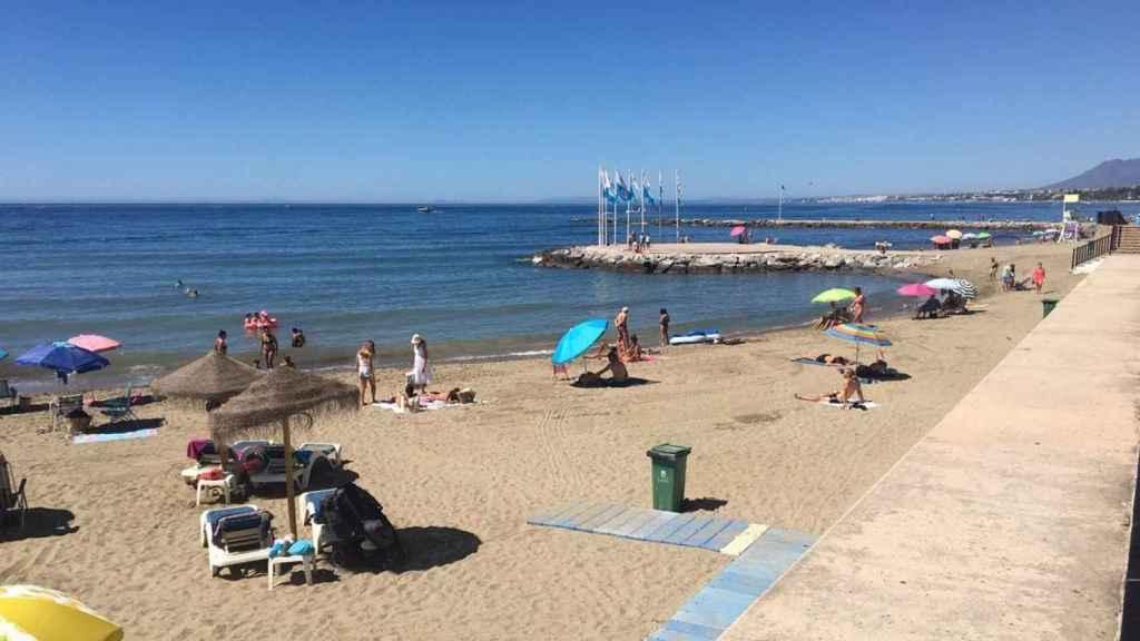 Una playa de Málaga.