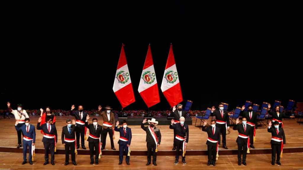 Los ministros de Perú en la jura de cargo.