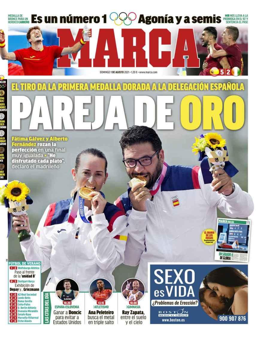 La portada del diario MARCA (01/08/2021)