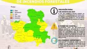 Riesgo de incendios este domingo 1 de agosto en Castilla-La Mancha