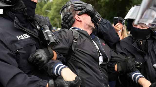 Protesta no autorizadas contra las medidas anticovid en Berlín.