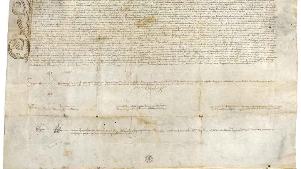 El pergamino con la firma de Fernando el Católico otorgando el título de ciudad a Alicante es una de las joyas del Archivo.