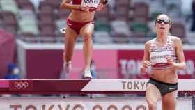 Carolina Robles en la prueba de los 3000 obstáculos en los JJOO de Tokio 2020