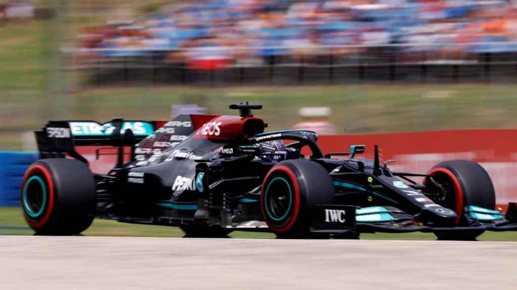 Hamilton en el Gran Premio de Hungría de Fórmula 1