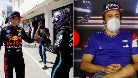 Verstappen y Hamilton y Fernando Alonso en Hungría