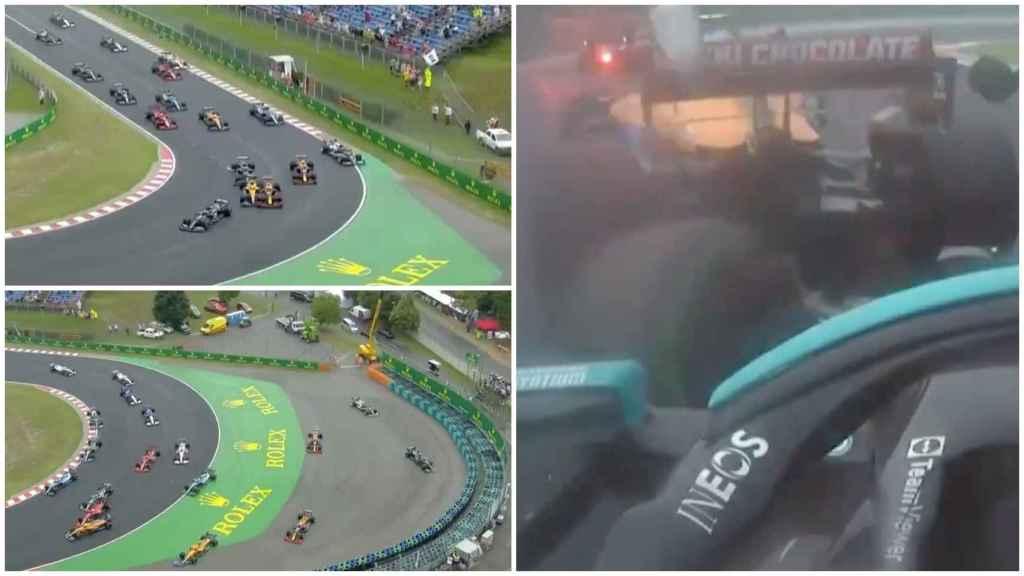 El brutal accidente en el GP de Hungría