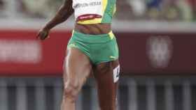 Elaine Thompson, campeona de los 100 metros lisos en los Juegos Olímpicos de Tokio 2020