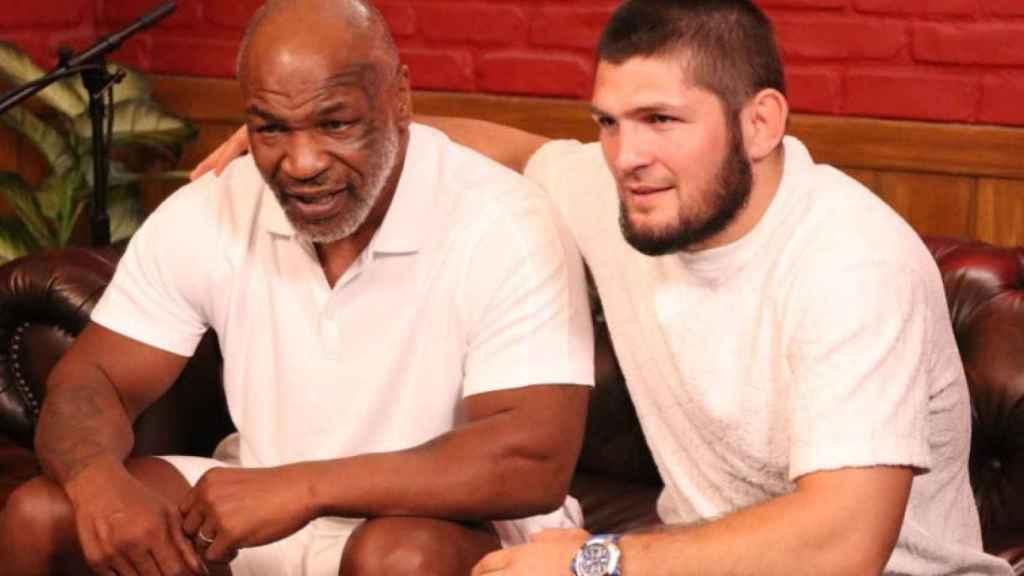 Mike Tyson y Khabib Nurmagomédov. Foto: Instagram (@khabib_nurmagomedov)