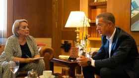 Esther Esteban entrevista a Ander Gil, presidente del Senado. Fotos: Esteban Palazuelos