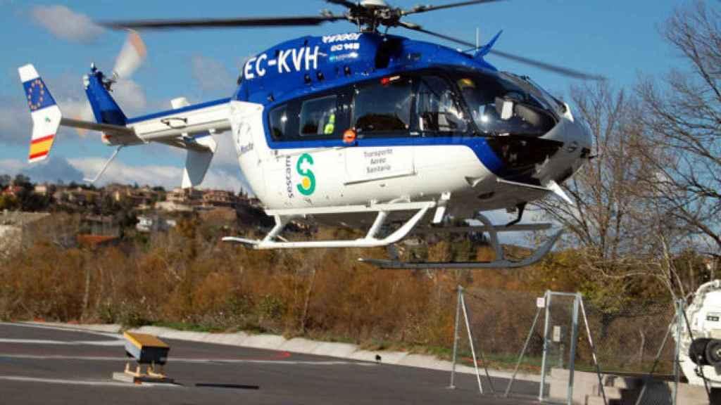 Helicóptero del Sescam. Imagen de archivo