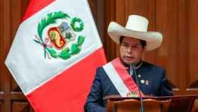 Pedro Castillo, durante su investidura en Perú.