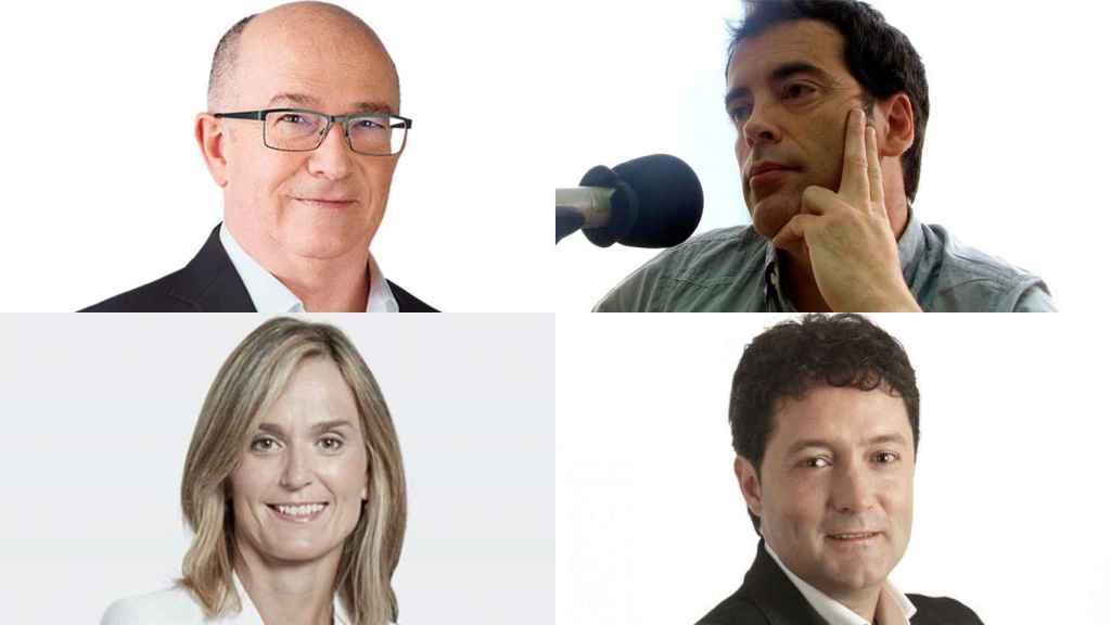 Javier Zubizarreta y Loren Oliva (arriba), Leire Artola y Xabier Txurruka (abajo)