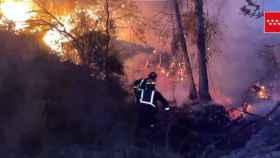 Incendio en el pantano de San Juan.