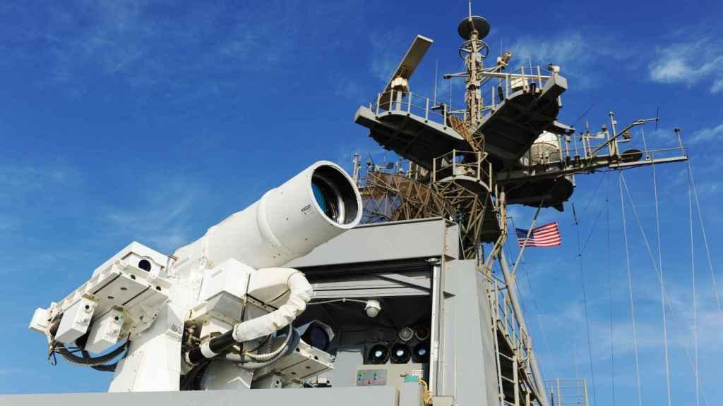 Arma láser a bordo del USS Portland