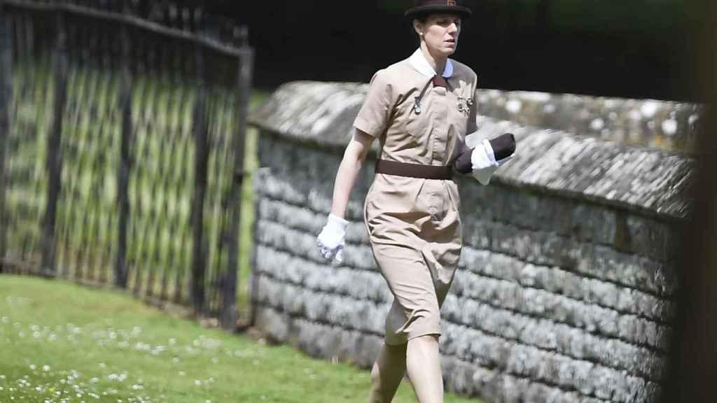 Maria Borrallo, con el uniforme de trabajo.