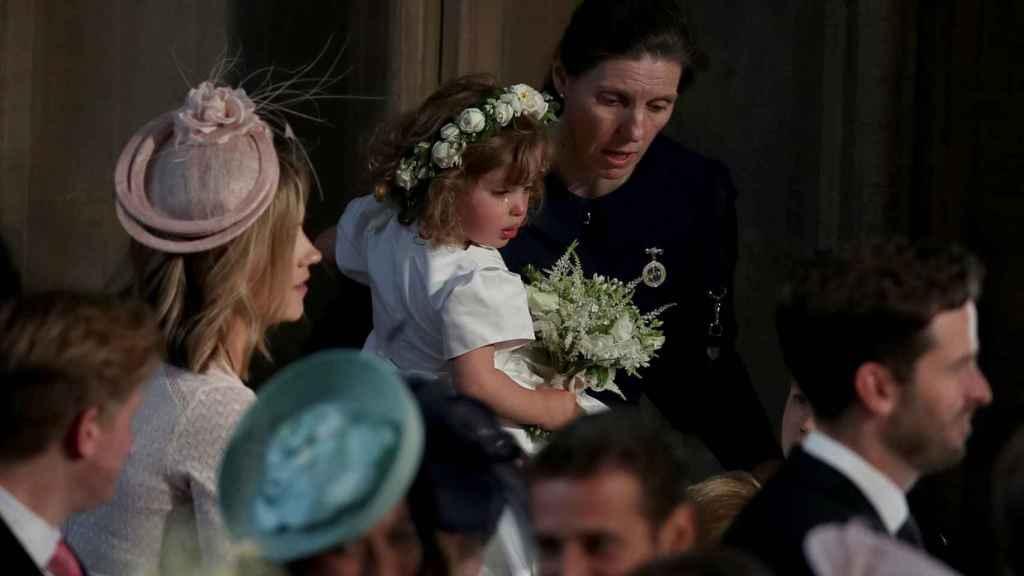 María Borrallo, en un momento del enlace entre el príncipe Harry y Meghan Markle.