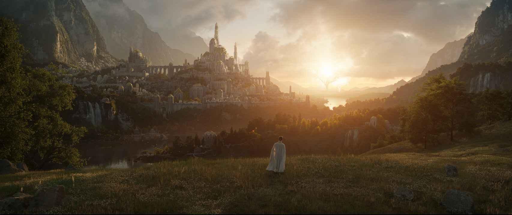 Amazon enseña la primera imagen de la esperadísima serie de 'El señor de los anillos'.