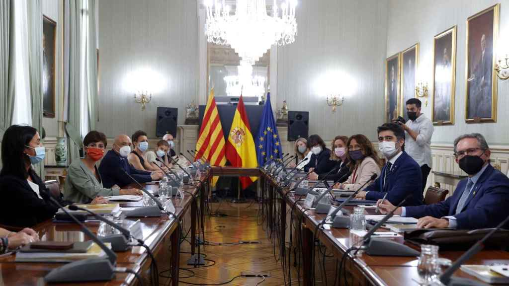 La reunión Estado-Generalitat de este lunes.