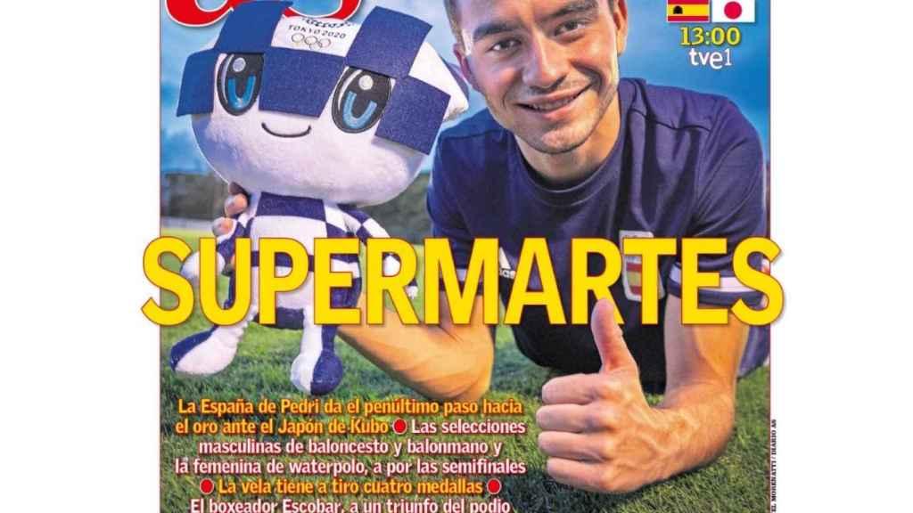 La portada del diario AS (03/08/2021)