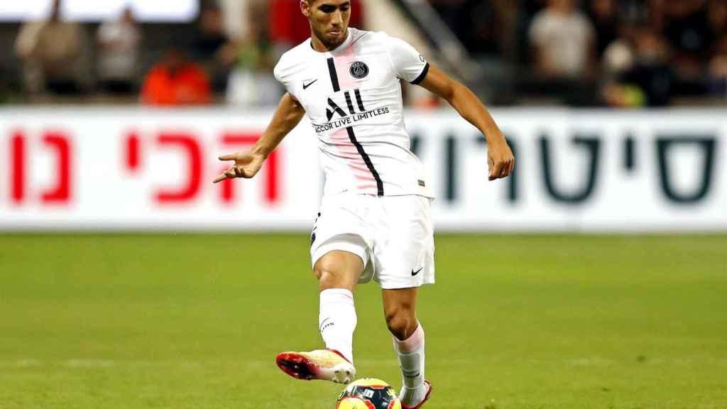 Achraf Hakimi, durante la final de la Supercopa de Francia