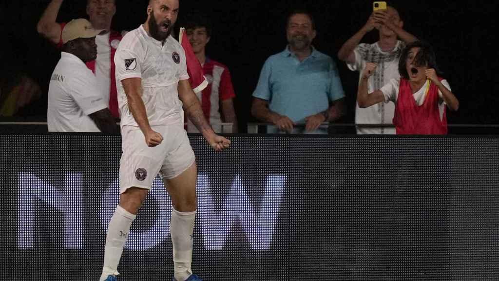 Gonzalo Higuaín, en un partido del Inter Miami de la MLS