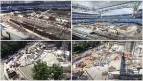Las obras del Santiago Bernabéu, en julio
