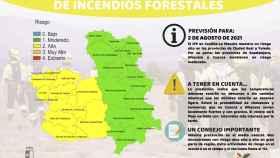 Mucho cuidado: riesgo alto de incendios este lunes en las provincias de Toledo y Ciudad Real