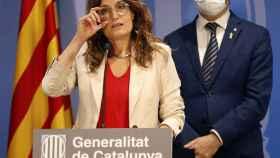 El vicepresidente catalán y conseller de Políticas Digitales y Territorio, Jordi Puigneró, y la consellera de la Presidencia, Laura Vilagrà.
