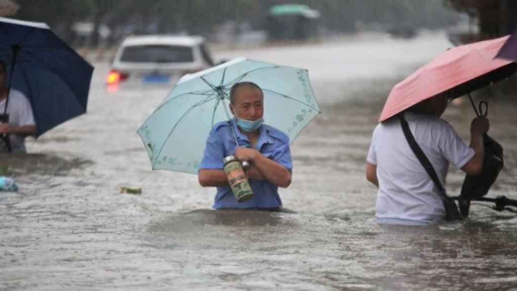 La inundaciones en el centro de China.