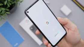 Aplicación de Google en un teléfono