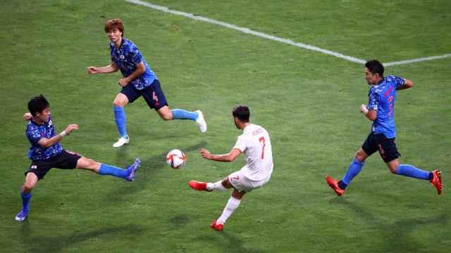 Las imágenes del golazo de Marco Asensio y la agónica victoria de España ante Japón en los JJOO