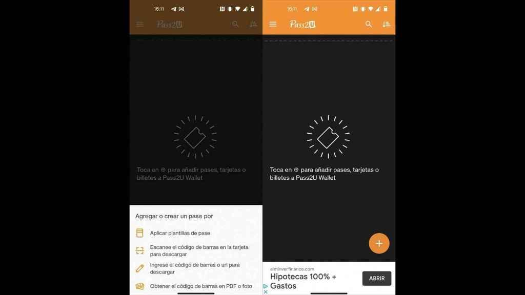 Pass2U Wallet en Android